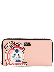 Karl Lagerfeld K Jet Choupette Zip Around Wallet