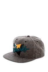 Mitchell And Ness Shark Crease Triangle Snapback Blue
