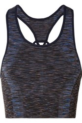 Lndr Cutout Space Dyed Stretch Sports Bra Black