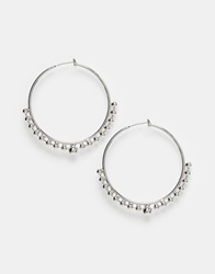 Weekday Bolly Hoop Earrings Silver