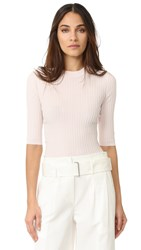 Acne Studios Iza Rib 3 4 Sleeve Sweater Pale Pink