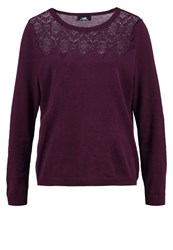 Wallis Yoke Jumper Berry