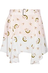 A.L.C. Daro Printed Silk Georgette Mini Skirt White