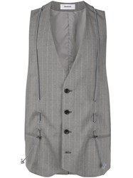 Chalayan Classic Tailored Vest Grey