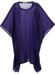 Denis Colomb Summer Poncho Blue