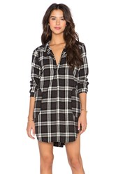 Cp Shades Teton Plaid Tunic Black And White