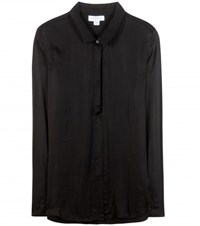 Velvet Cotton Blend Shirt Black