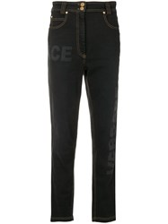 Versace High Waisted Jeans Black