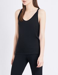 Theory Scarsdale Sleeveless Cotton Blend Top Black