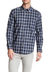 Nautica Long Sleeve Wrinkle Resistant Classic Fit Shirt Blue