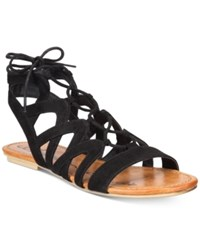 American Rag Marlie Lace Up Sandals Only At Macy's Women's Shoes Black