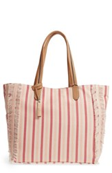 Vince Camuto Iona Canvas Tote Beige Beige White