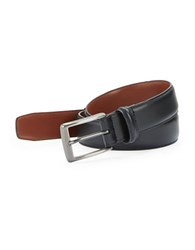 Perry Ellis Square Buckle Leather Belt Black