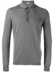 Boglioli Heathered Polo Shirt Grey