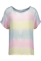 Kain Label Carine Frayed Tie Dyed Gauze Top Pink