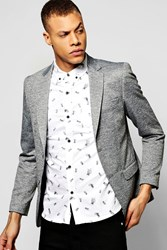 Boohoo Slim Fit Jersey Blazer Grey