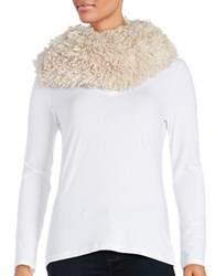 Madison 88 Faux Fur Loop Scarf Oatmeal
