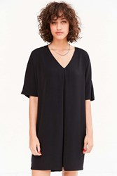 Silence And Noise Pleat Front Cocoon Mini Dress Black