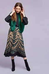 Plenty By Tracy Reese Boheme Printed Midi Skirt Green
