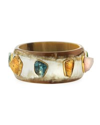 Ashley Pittman Furahi Bangle Bracelet Light Horn