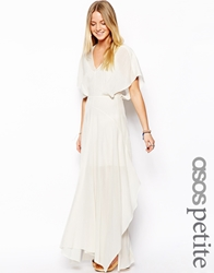 Asos Petite Exclusive Premium Kaftan Maxi Dress With Kimono Sleeve Cream