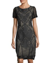 Goldie London Dusty Embroidered Mesh Dress Black