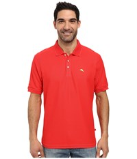 Tommy Bahama The Emfielder Polo Shirt Red Cherry Men's Short Sleeve Pullover Multi
