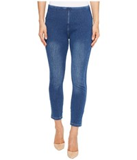 Lysse Toothpick Crop Mid Wash Women's Casual Pants Blue