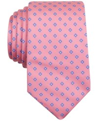 Nautica Men's Barge Textured Floral Pattern Classic Tie Pink