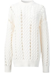 Alexander Wang Open Knit Jumper White