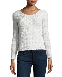 Dex Cable Knit Mixed Tone Sweater Cream