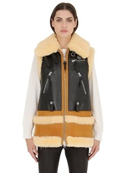 Coach Shearling And Leather Vest