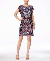 Inc International Concepts Petite Printed Blouson Dress Only At Macy's Couture Paisley