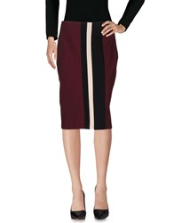 1 One Knee Length Skirts Maroon
