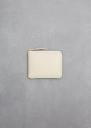 Comme Des Garcons Classic Leather Line Zip Wallet Off White