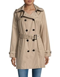 Michael Michael Kors Plus Double Breasted Trench Coat British Khaki
