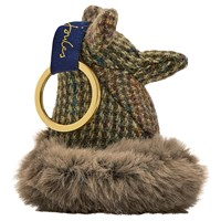 Joules Tweedle Fox Keyring Brown