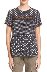 Women's Marc By Marc Jacobs Polka Dot Tiered Ruffle Top