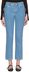 Chloe Blue Scalloped Jeans