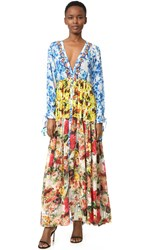 One By Rococo Sand Romantic Floral Maxi Dress Pastel