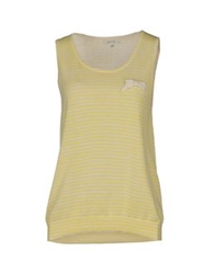 Gigue Sleeveless Sweaters Yellow