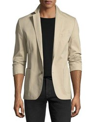1 Like No Other Garment Washed Two Button Blazer Brown