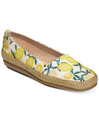 Aerosoles Solitaire Espadrille Flats Women's Shoes Yellow Fabric