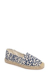 Sam Edelman Women's Verona Espadrille White Navy Cheetah Canvas