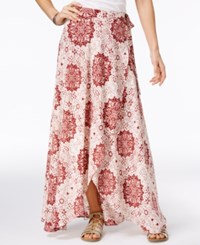 American Rag Printed High Low Wrap Skirt Only At Macy's Russet Brown