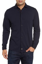 Thaddeus Men's Shively Pique Knit Sport Shirt Ink