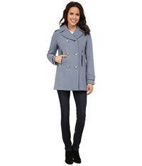 Vince Camuto Double Breasted Military Wool J8001 Dusty Blue Women's Coat