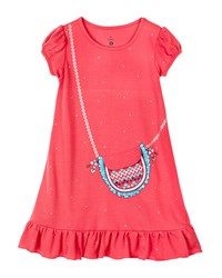 Petit Lem Fashionista Printed Short Sleeve Nightgown Pink