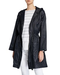 Eileen Fisher Long Hooded Jacket Graphite