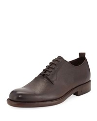 John Varvatos Fulton Grained Leather Oxford Shoe Brown